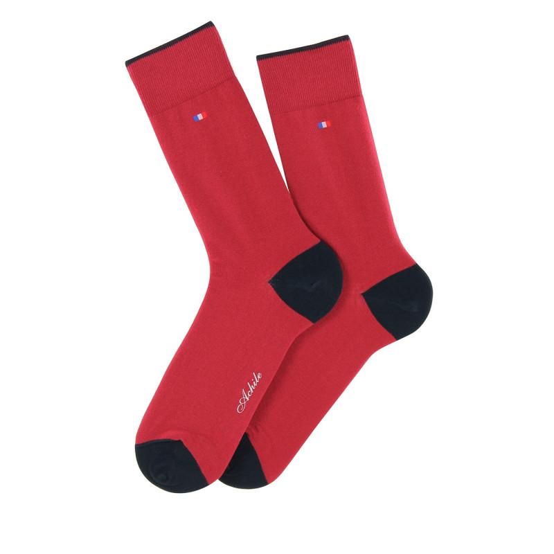 Chaussettes talons et pointes contrastés en coton