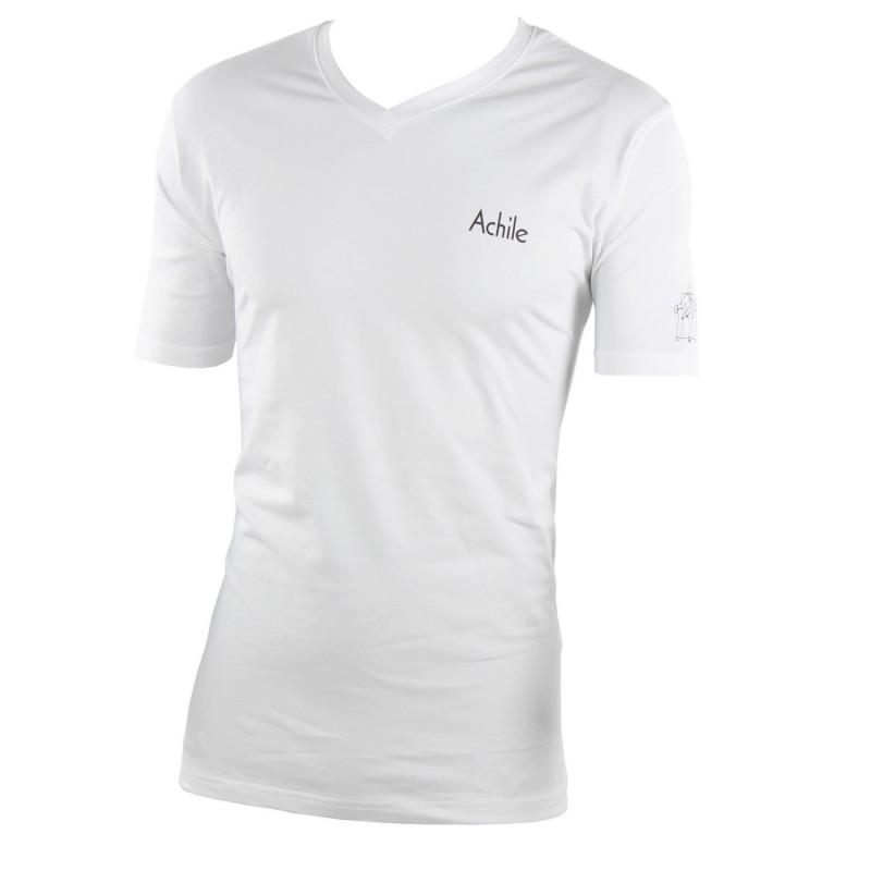 Tee shirt col V en coton