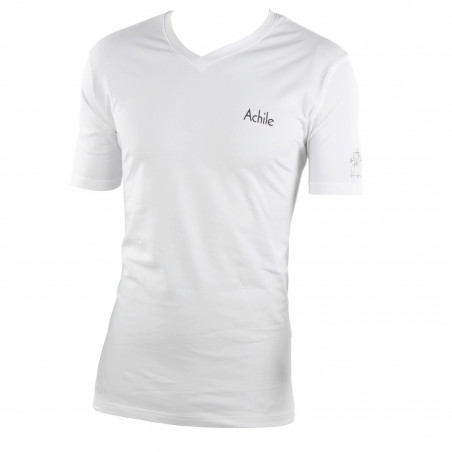 V-necked cotton T-shirt