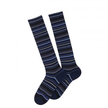 Adeline knee-length cotton socks