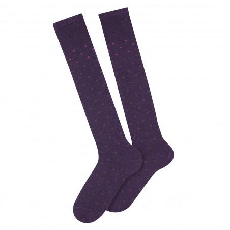 Caline knee-length mohair socks