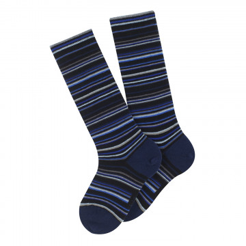Adèle knee-length cotton socks