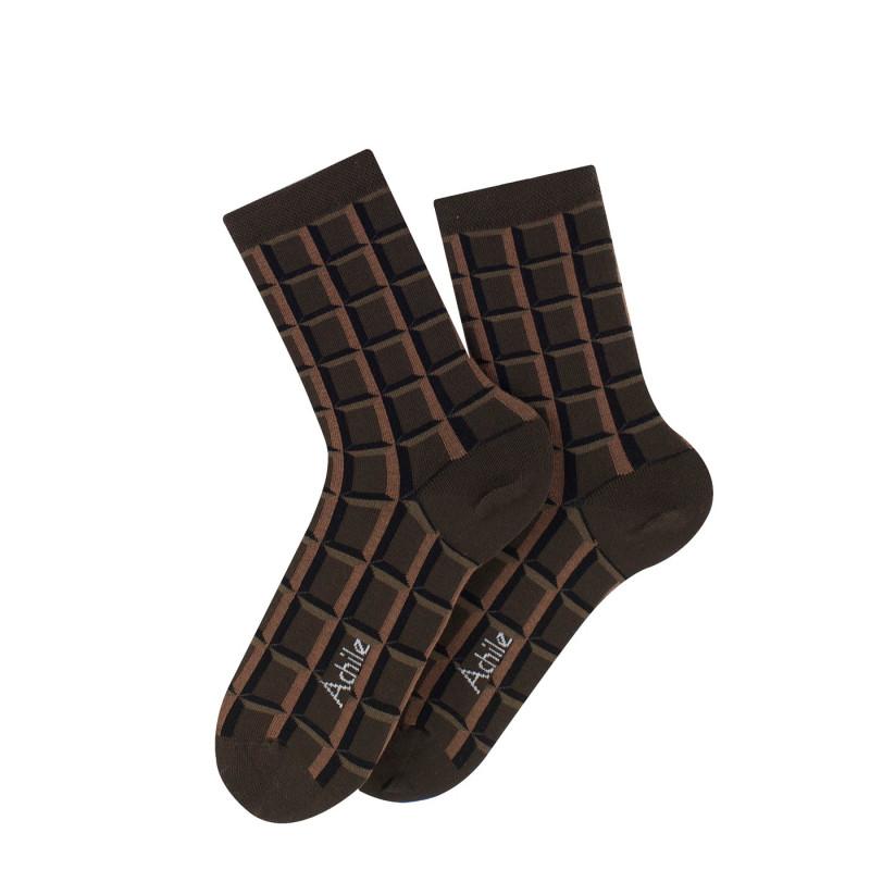 Chaussettes Chocolat en coton