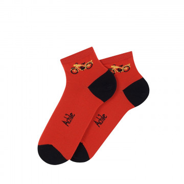 Motocyclette cotton ankle socks