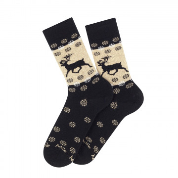Reindeer wool and cotton socks