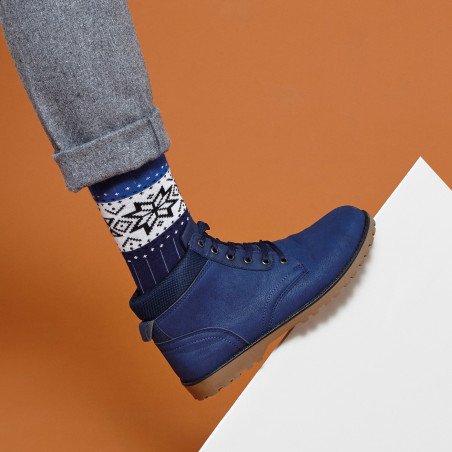 Snow wool and cotton socks