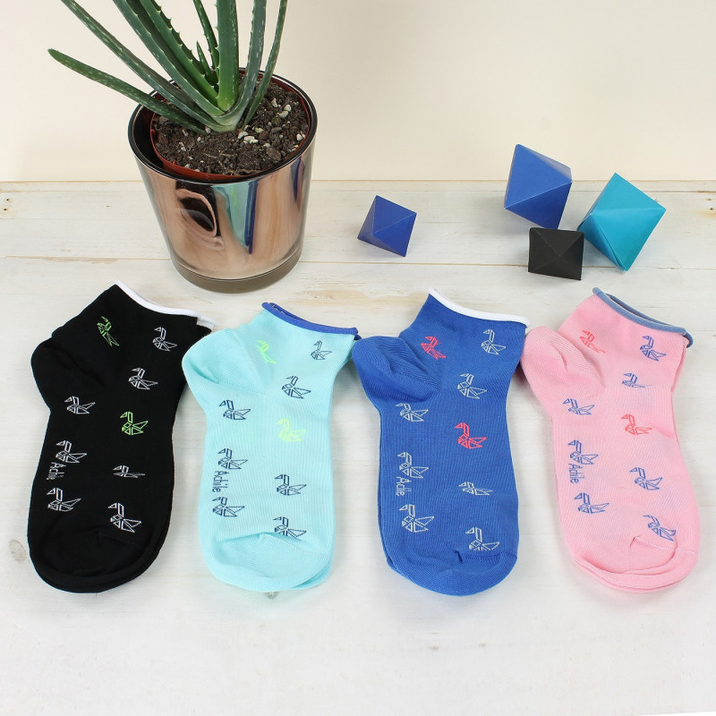 Socquettes Origami en coton