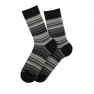 Chaussettes Stripes en fil d'écosse