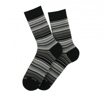 Striped lisle socks