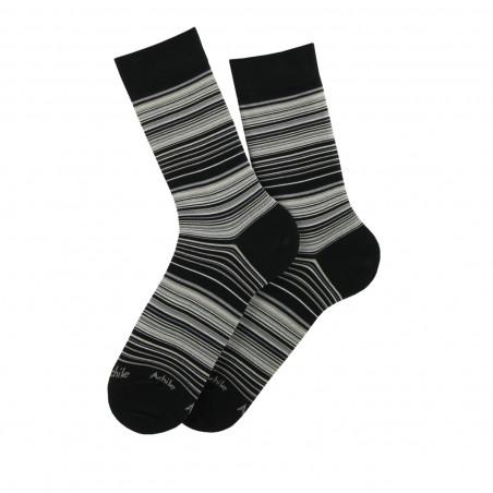 Striped lisle socks