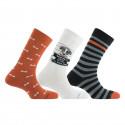Coffret Wanted de 3 paires de chaussettes