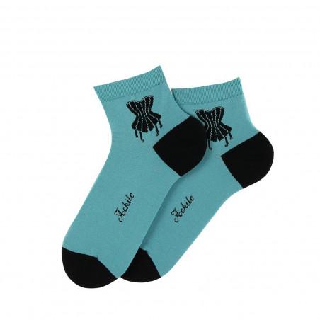 Corset lisle thread ankle socks