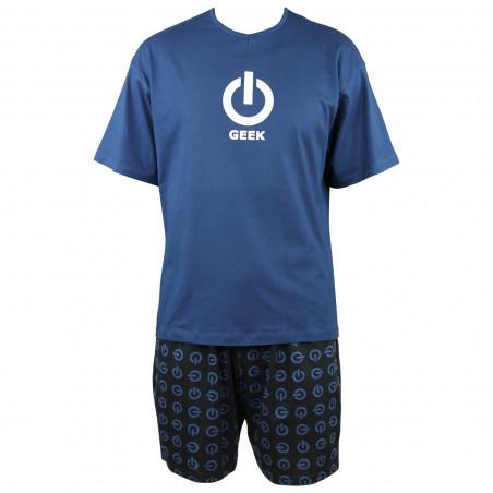 Pyjama court Geek en coton