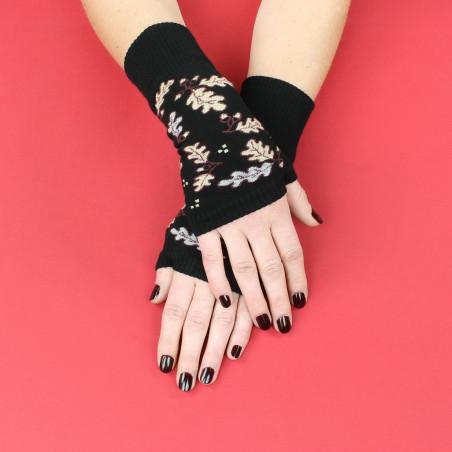 """Fingerless glove Feuille de Chêne by """"Marcia de Carvalho"""""""