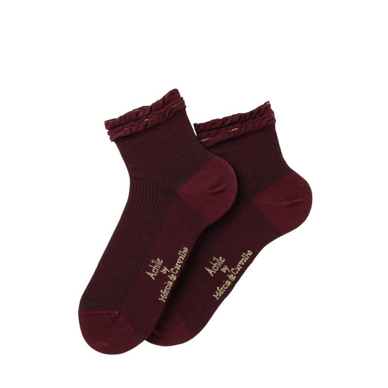 Socquettes Feuille de Chêne en coton