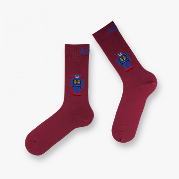 Robot cotton socks