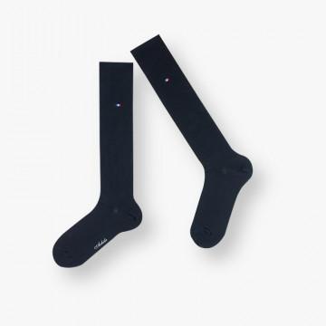 Long plain cotton socks