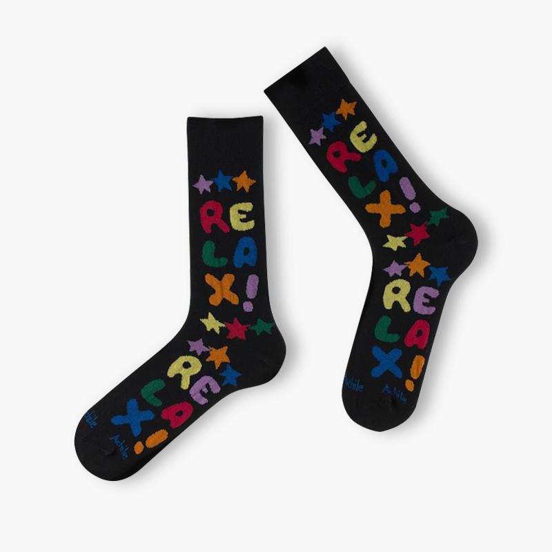 Chaussettes Relax multicolore en coton